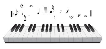 Piano music symbol Stock Image