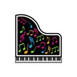 Piano Musical Notes Logo. Stock Photos