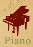 Piano - Musical Theme Royalty Free Stock Photo