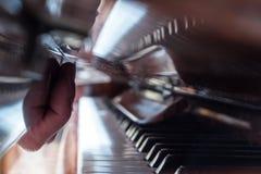 Piano, muziek, hand Stock Foto's