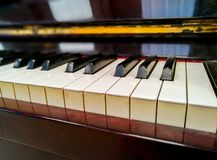 Piano, muzikaal instrument royalty-vrije stock afbeelding