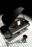 Piano na cena Fotografia de Stock Royalty Free