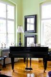 Piano negro fotos de archivo