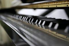 Piano nero Immagini Stock