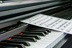 Piano & note Royalty Free Stock Image