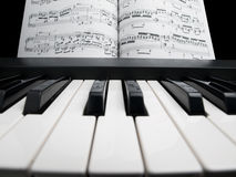 Piano with the note sheets Stock Photo