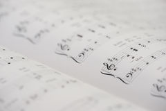 Piano notebook Stock Photography