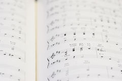 Piano notebook Royalty Free Stock Photos