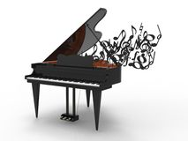 Piano and notes Stock Photos