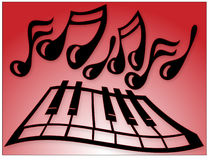 Piano Notes. Illustration of Piano Keys and Notes vector illustration