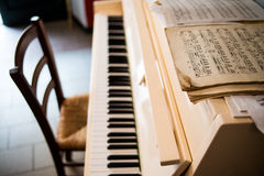 Piano with notes Royalty Free Stock Image