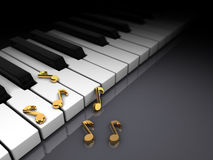 Piano and notes Royalty Free Stock Image