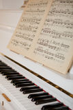 Piano with notes Royalty Free Stock Images