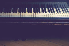 Piano. An old piano with retro filter Royalty Free Stock Photo