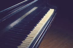 Piano. An old piano with retro filter Royalty Free Stock Images