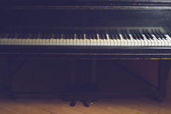 Piano. An old piano with retro filter Royalty Free Stock Image