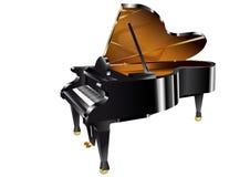 Piano op wit Royalty-vrije Stock Afbeeldingen