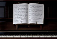 Piano and Open Sheet Music Royalty Free Stock Image