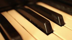 Piano-ORGAAN SLEUTELS (Dolly Move) - ECU-de Macro Dolly stock footage