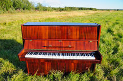 The piano outdoors. Stock Photos