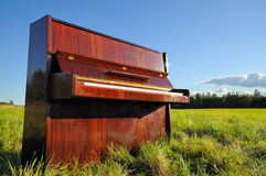 The piano outdoors. Royalty Free Stock Image