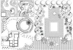 Piano paesistico del od delle collezioni illustrazione di stock