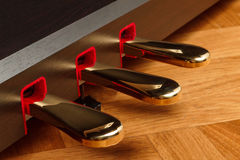 Piano pedals Stock Photo