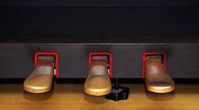 Piano pedals Stock Photo