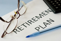 Piano pensionistico Immagini Stock