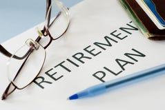 Piano pensionistico Immagini Stock Libere da Diritti
