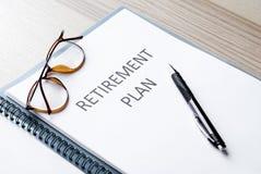 Piano pensionistico Immagine Stock Libera da Diritti