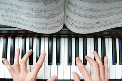 Piano performer Stock Photos