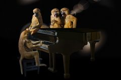 Piano, Pianist, Darkness, Keyboard Royalty Free Stock Photography