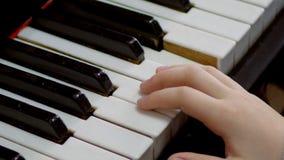 Piano, pianista de las manos que juega música almacen de video