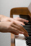 Piano play Royalty Free Stock Images