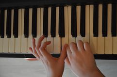 Piano play stock images