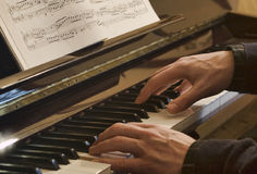Piano player Royalty Free Stock Photo