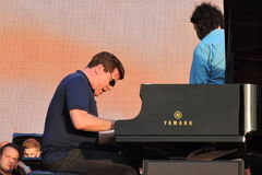 Piano player Denis Matsuev performs on stage Royalty Free Stock Images