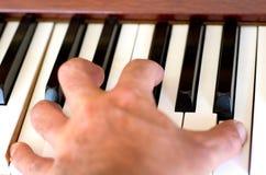 Piano player Stock Image