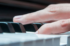 Piano player hands Royalty Free Stock Photo