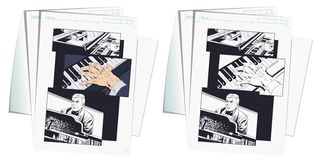 Piano player performing music. Stock illustration stock images