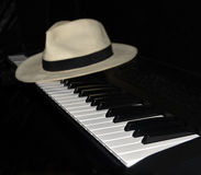 Piano Player Takes a Break - Panama Hat. royalty free stock images