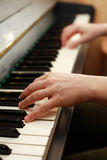 Piano playing Royalty Free Stock Photo