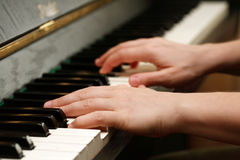 Piano playing Stock Photos