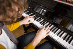 Piano playing Royalty Free Stock Images