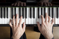 Piano playing Royalty Free Stock Photos