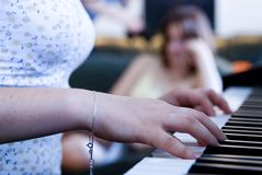 Piano-playing Royalty Free Stock Photography