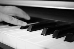 Piano playing stock photography