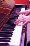 Piano playing Royalty Free Stock Photos