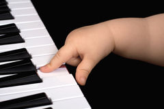 Piano playing child Royalty Free Stock Photography